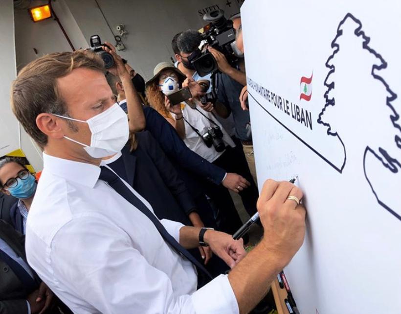 Président dons humanitaire Liban